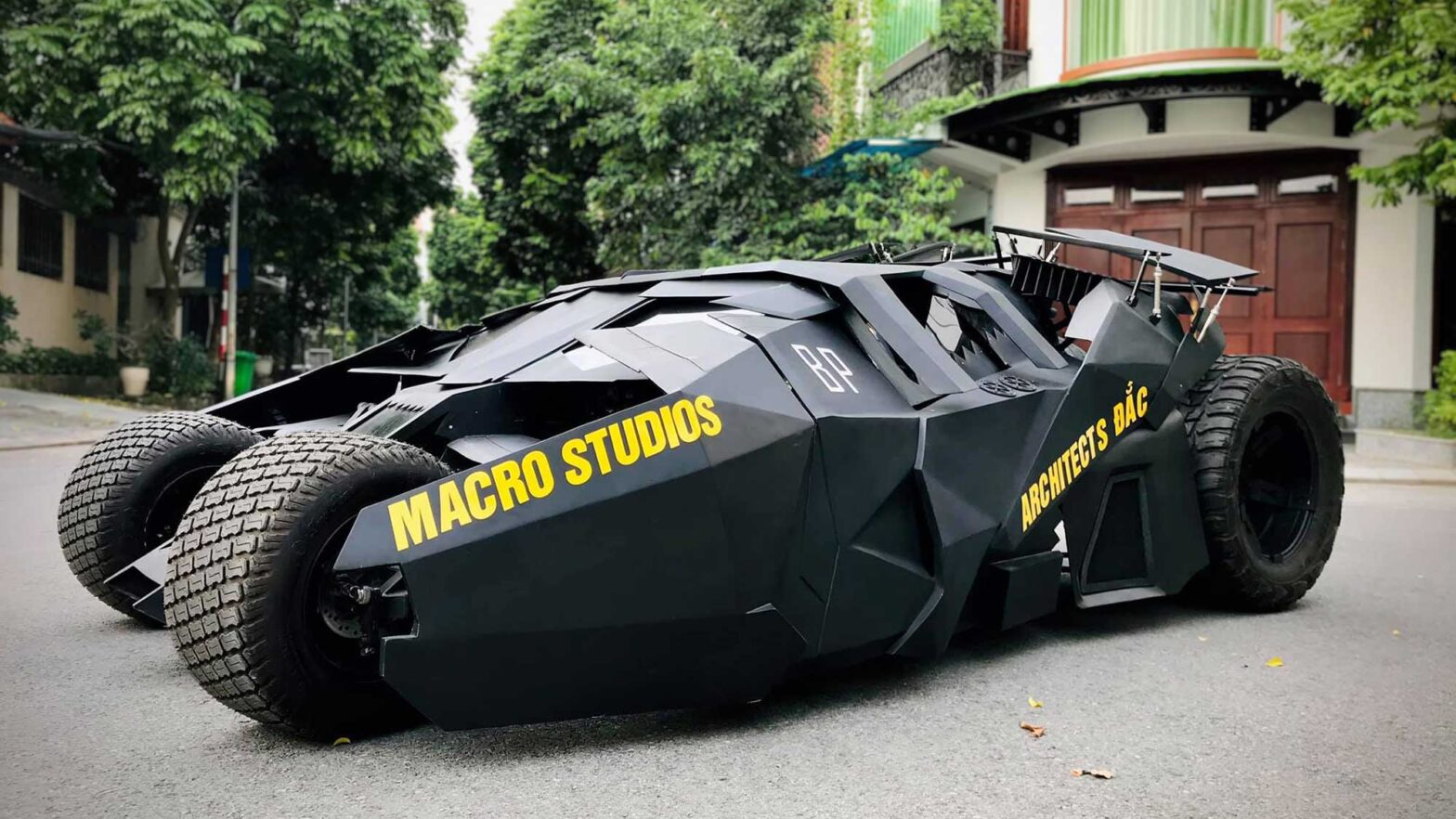 Vietnam College Student His Own Tumbler Batmobile