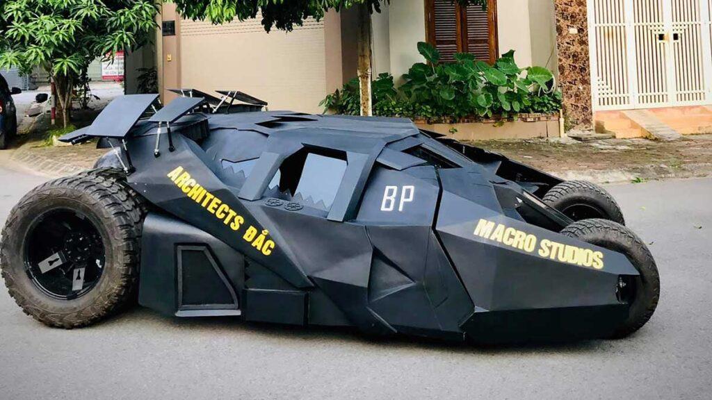 Vietnam College Student His Own Tumbler Batmobile