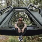 ARK Combines The Best Of Inflatable Exoskeleton Tent With A Hammock