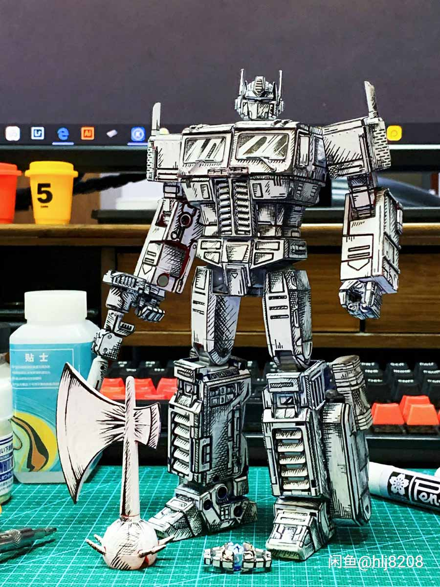Custom Manga Repaint Transformers Optimus Prime