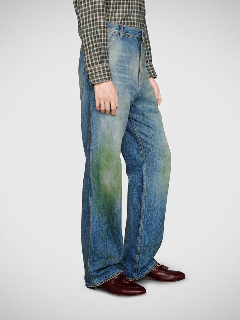 Gucci Eco Washed Organic Denim Pant