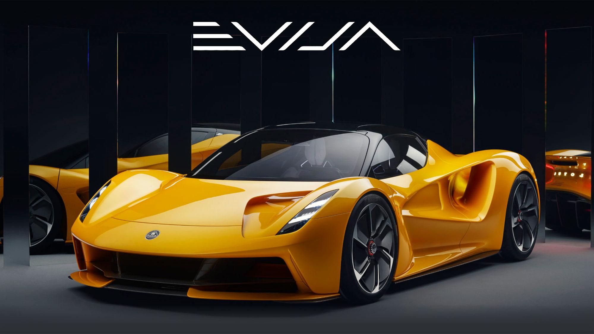 Lotus Evija All-electric Hypercar in Solaris Yellow
