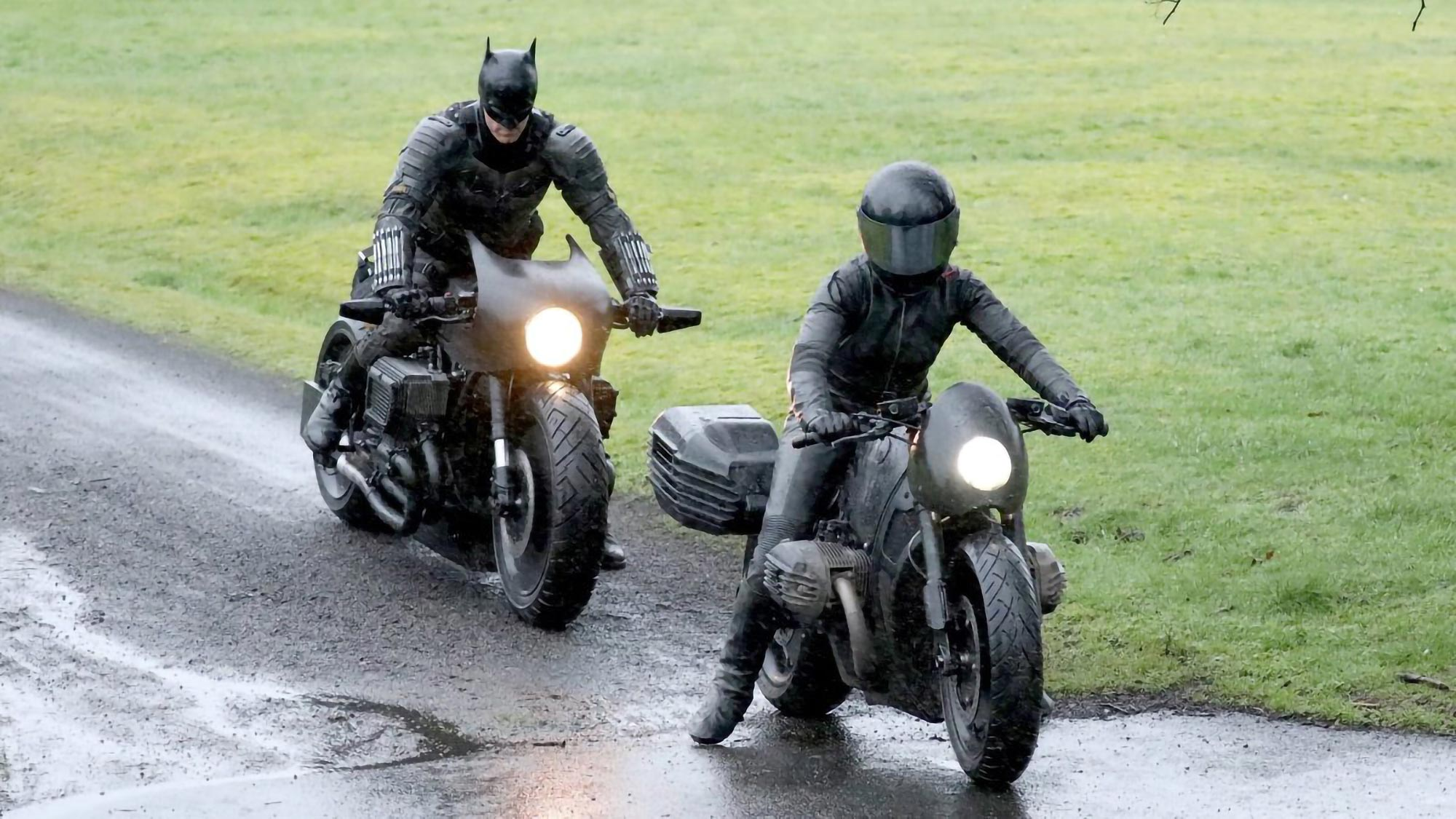 Matt Reeves' The Batman Movie Batcycle