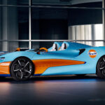 McLaren Celebrates New Partnership With Gulf Oil With Gulf Livery McLaren Elva