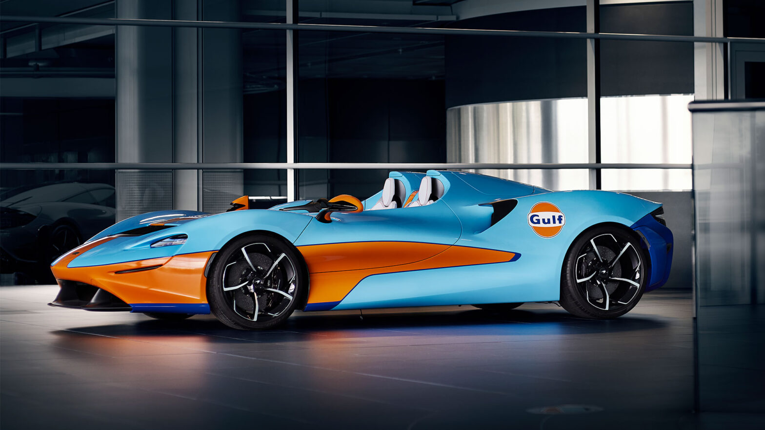 McLaren Elva Supercar in Gulf Oil Colors