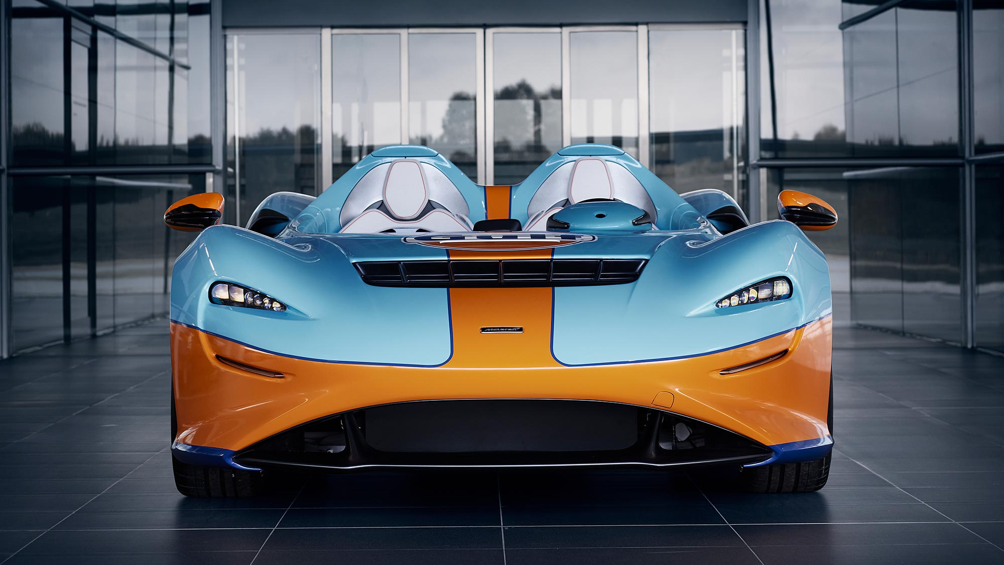 McLaren Elva Supercar in Gulf Oil Colors