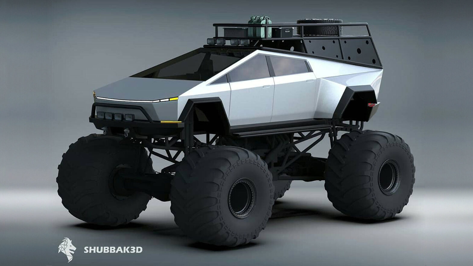Tesla Cybertruck Monster Truck Concept Render