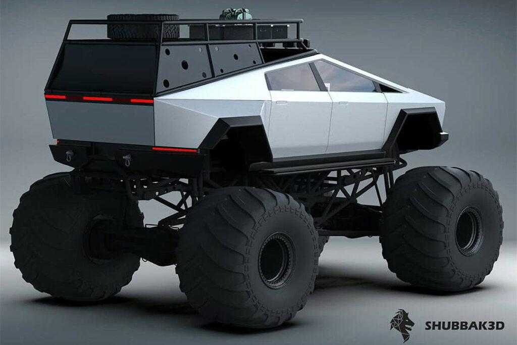 Tesla Cybertruck Monster Truck Concept Render
