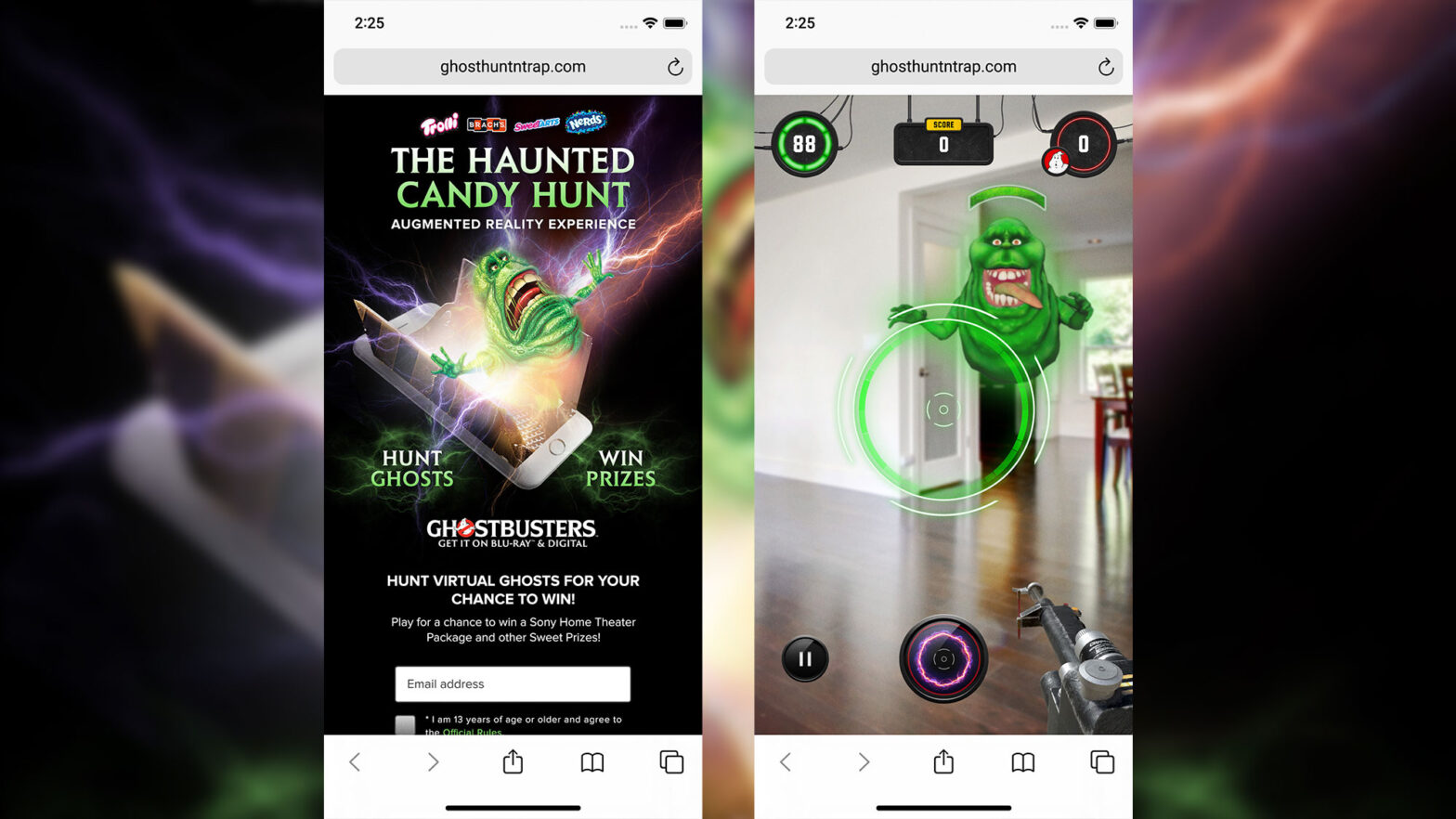 The Haunted Candy Hunt AR Experience