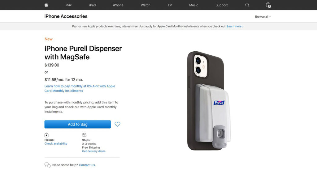 iPhone Purell Dispenser with MagSafe