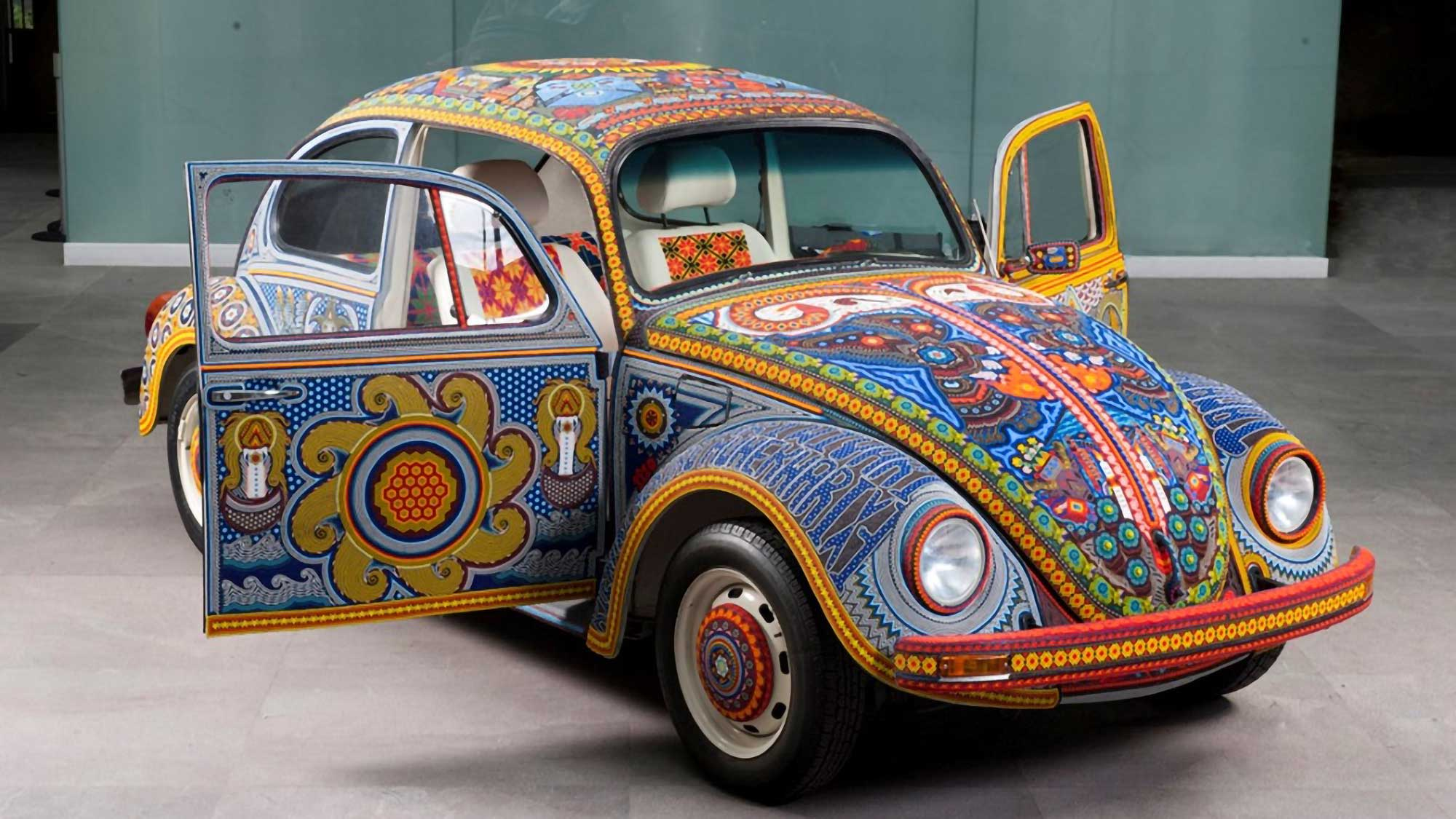 1990 Volkswagen Beetle Covered in Glass Beads