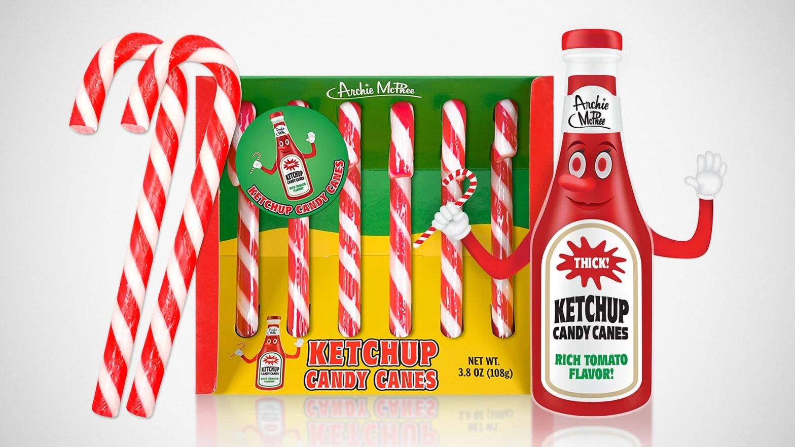 Archie McPhee Ketchup Flavored Candy Canes