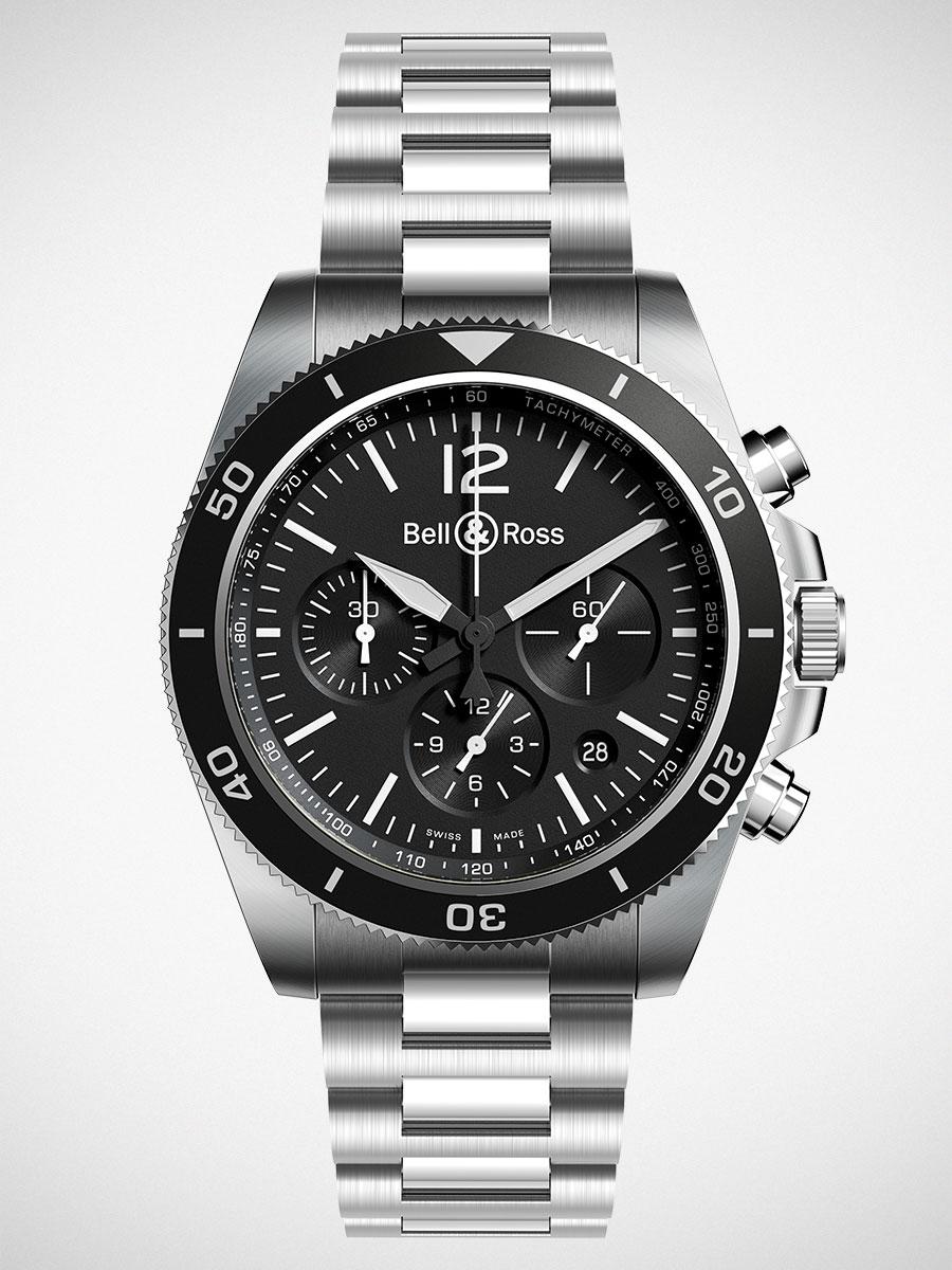 Bell & Ross BR V3-94 Black Steel Watch
