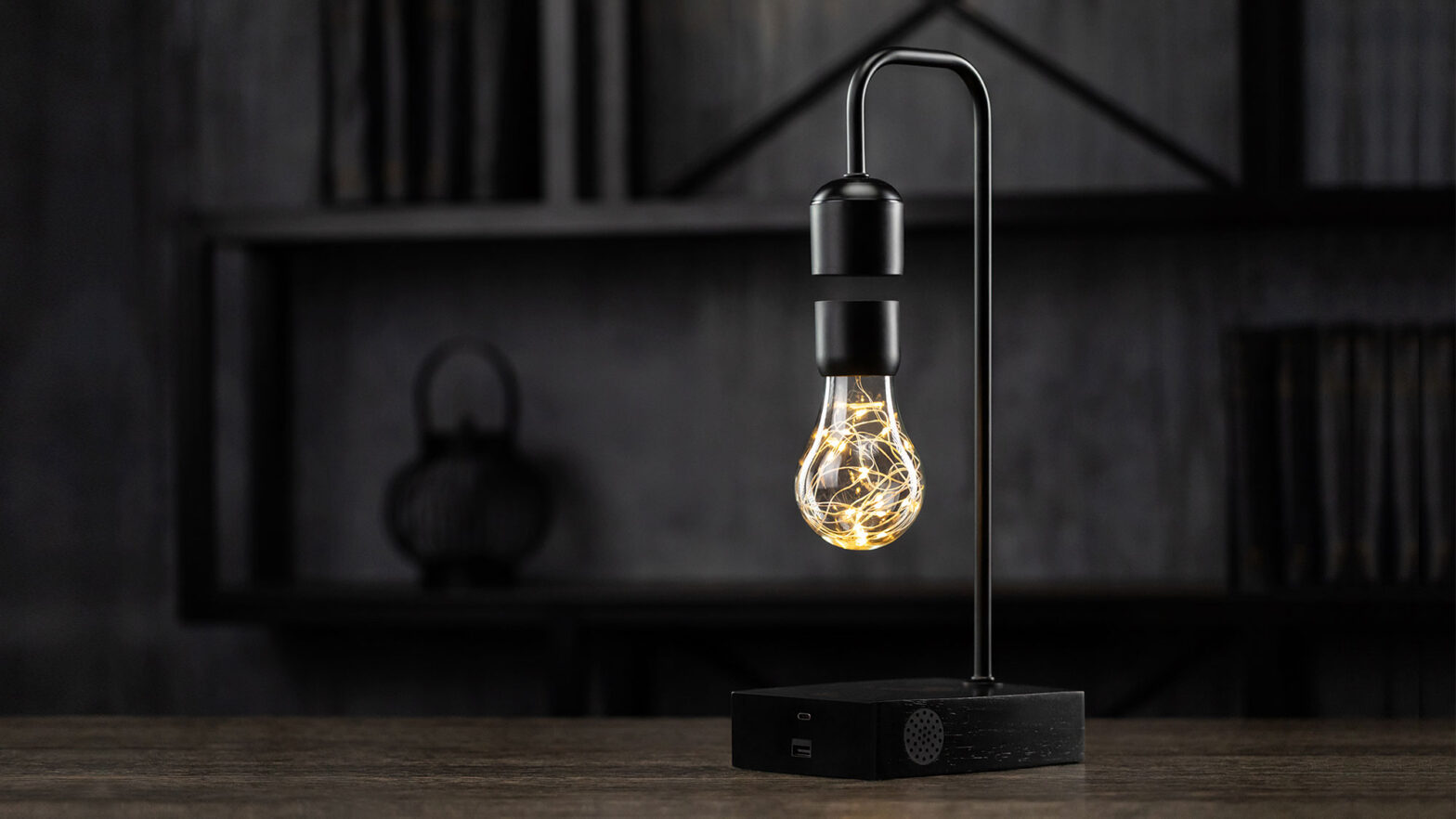 Gravita Levitating Smart Lamp by Floately