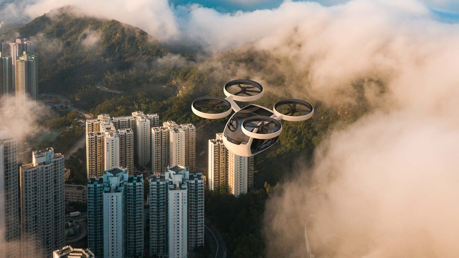 KITE Passenger Drone for Inter-city Transit
