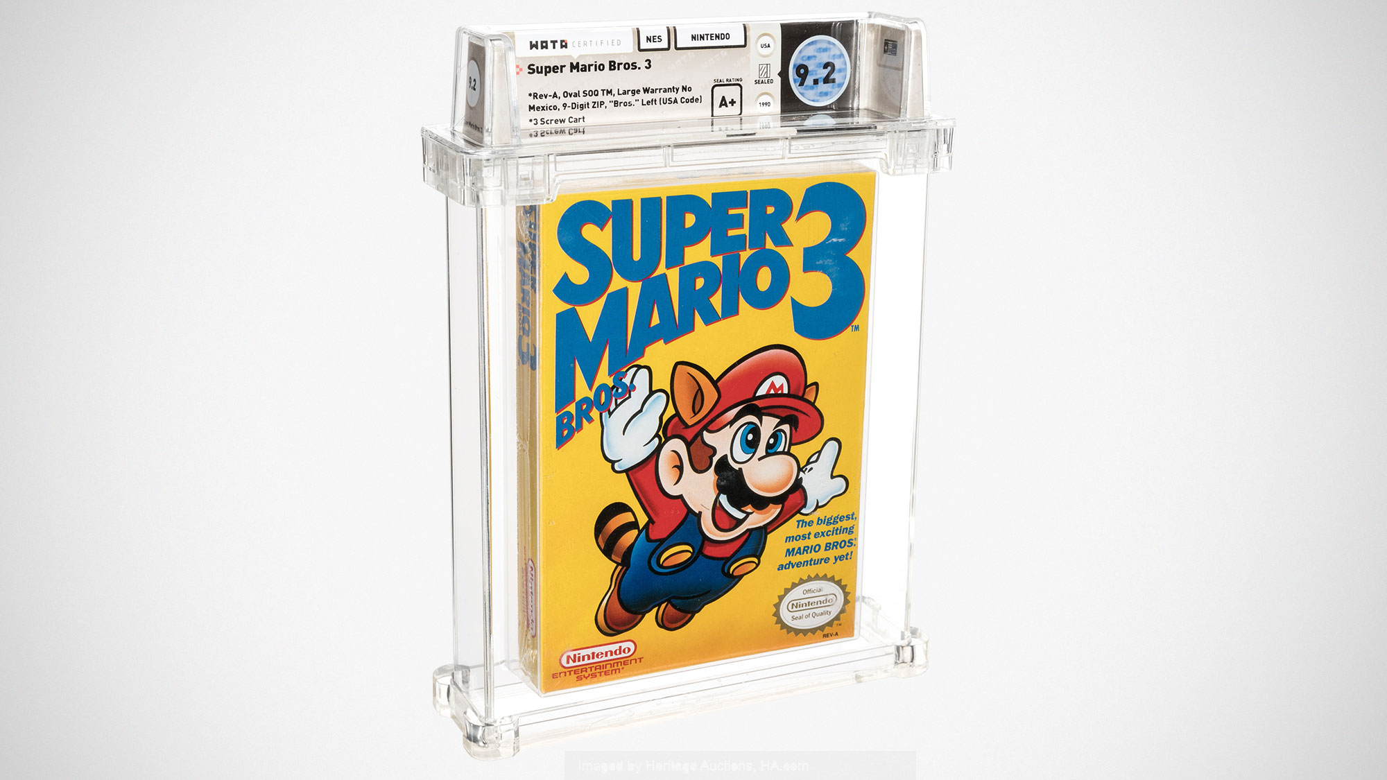 Sealed Super Mario Bros. 3 Sold for US$156K