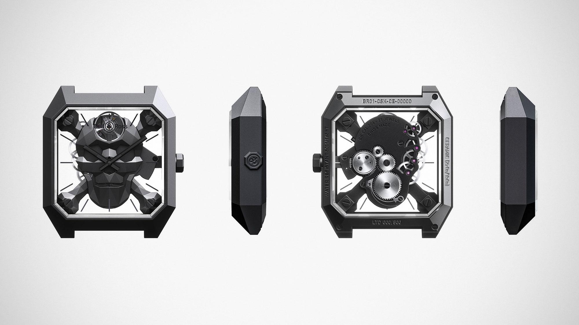 Bell & Ross BR 01 Cyber Skull Luxury Timepiece