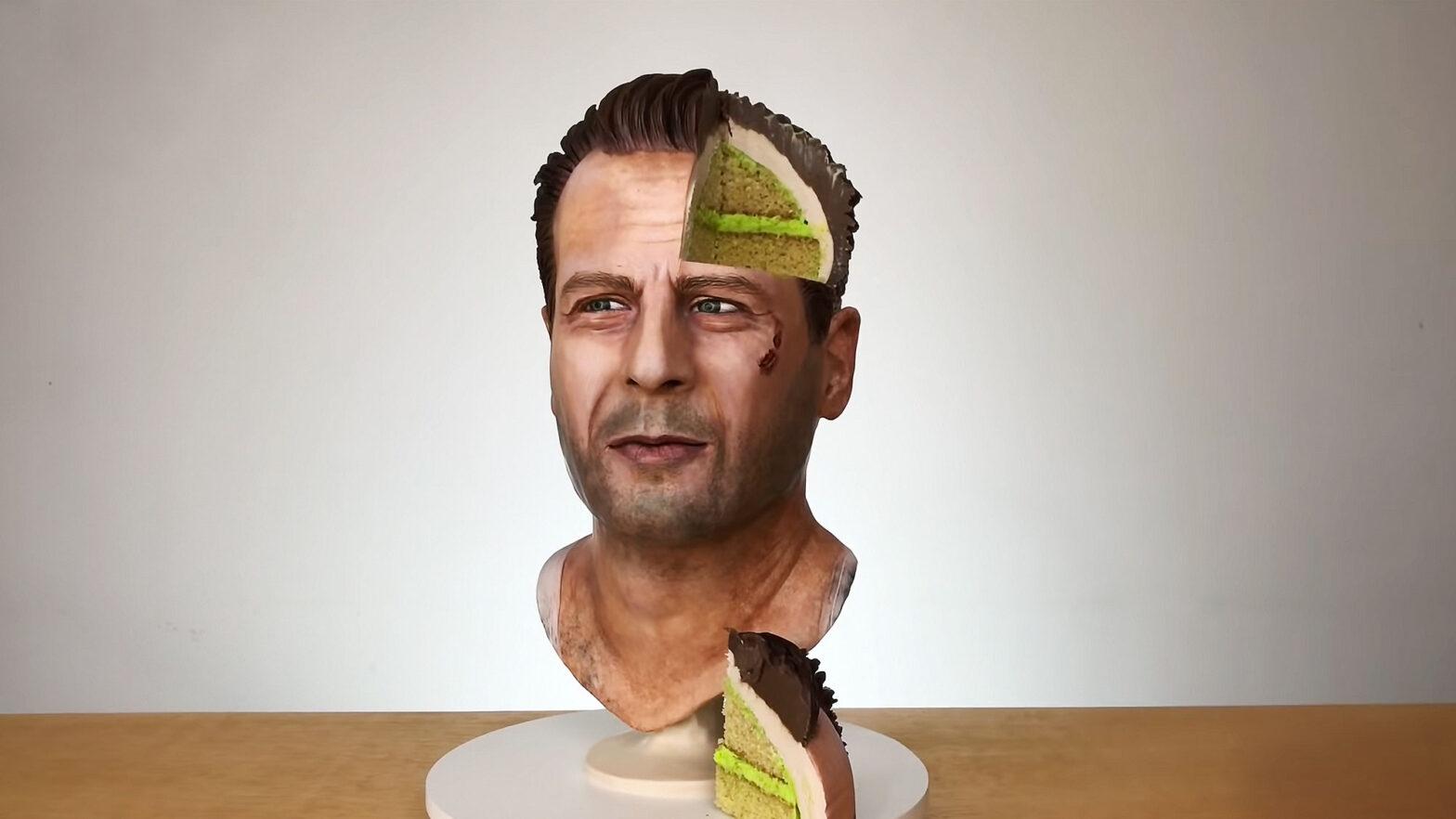 Bruce Willis Cake by Sideserf Cakes