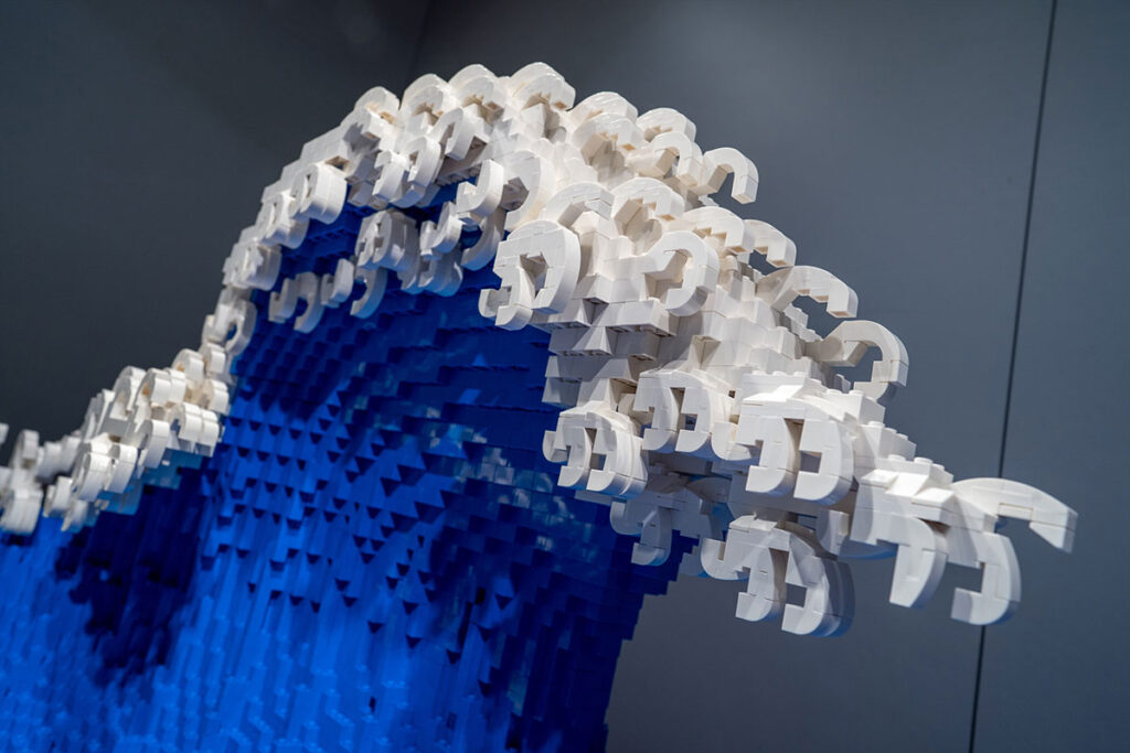 LEGO Hokusai's Great Wave by Jumpei Mitsui
