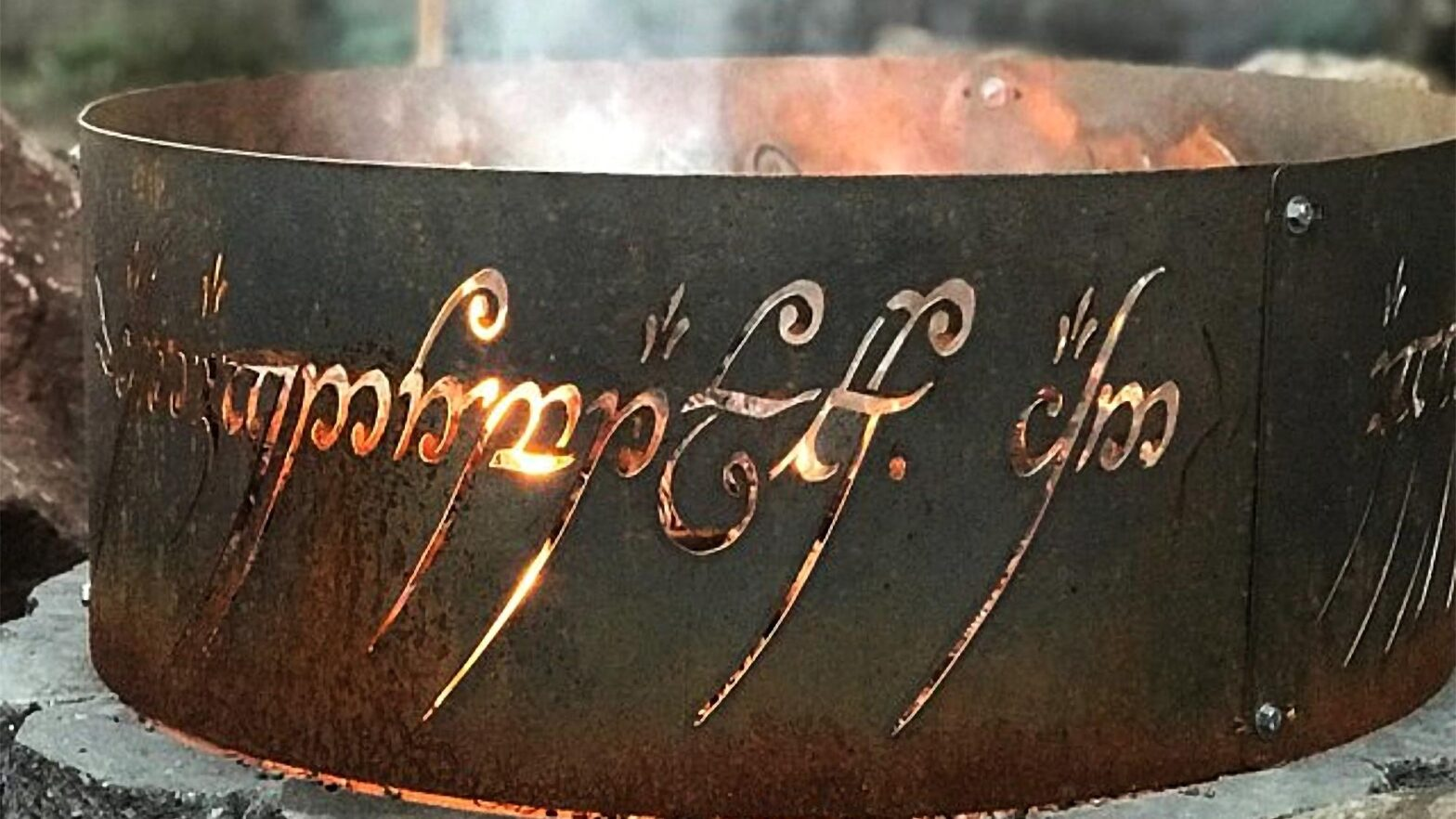 Lord of the Ring Fire Pit by Cutting Edge Steelwork