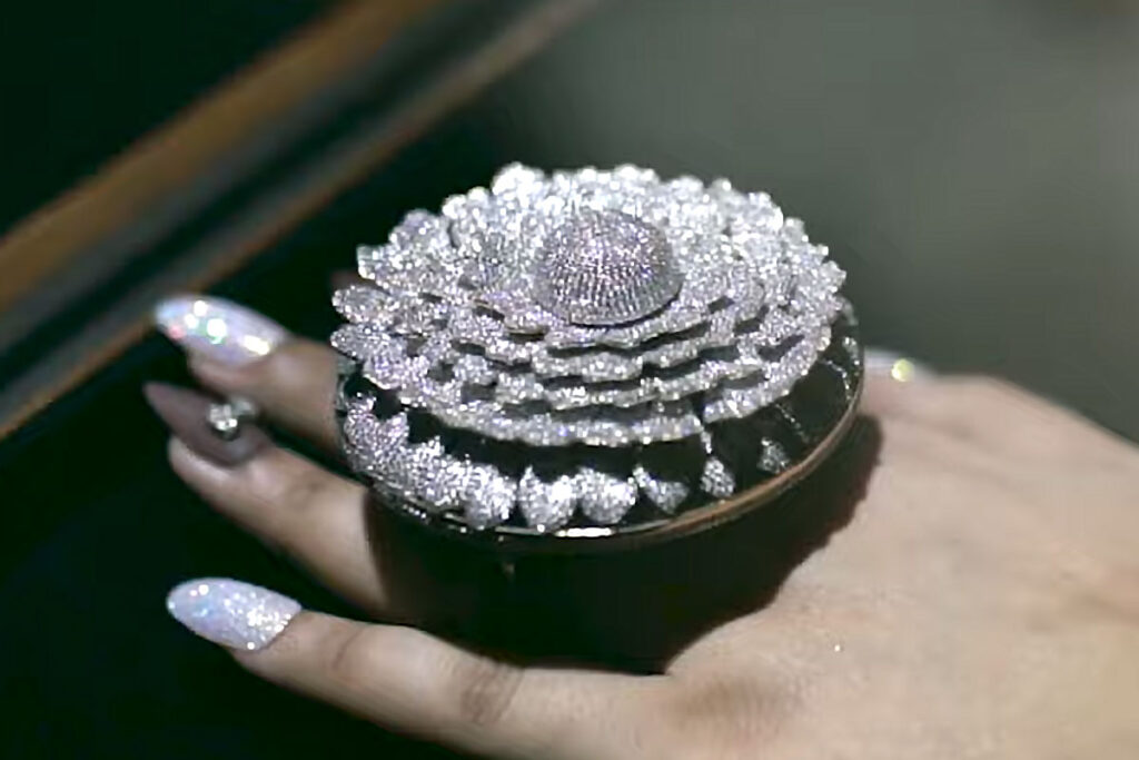 Most Diamonds Set in One Ring by Renani Jewels