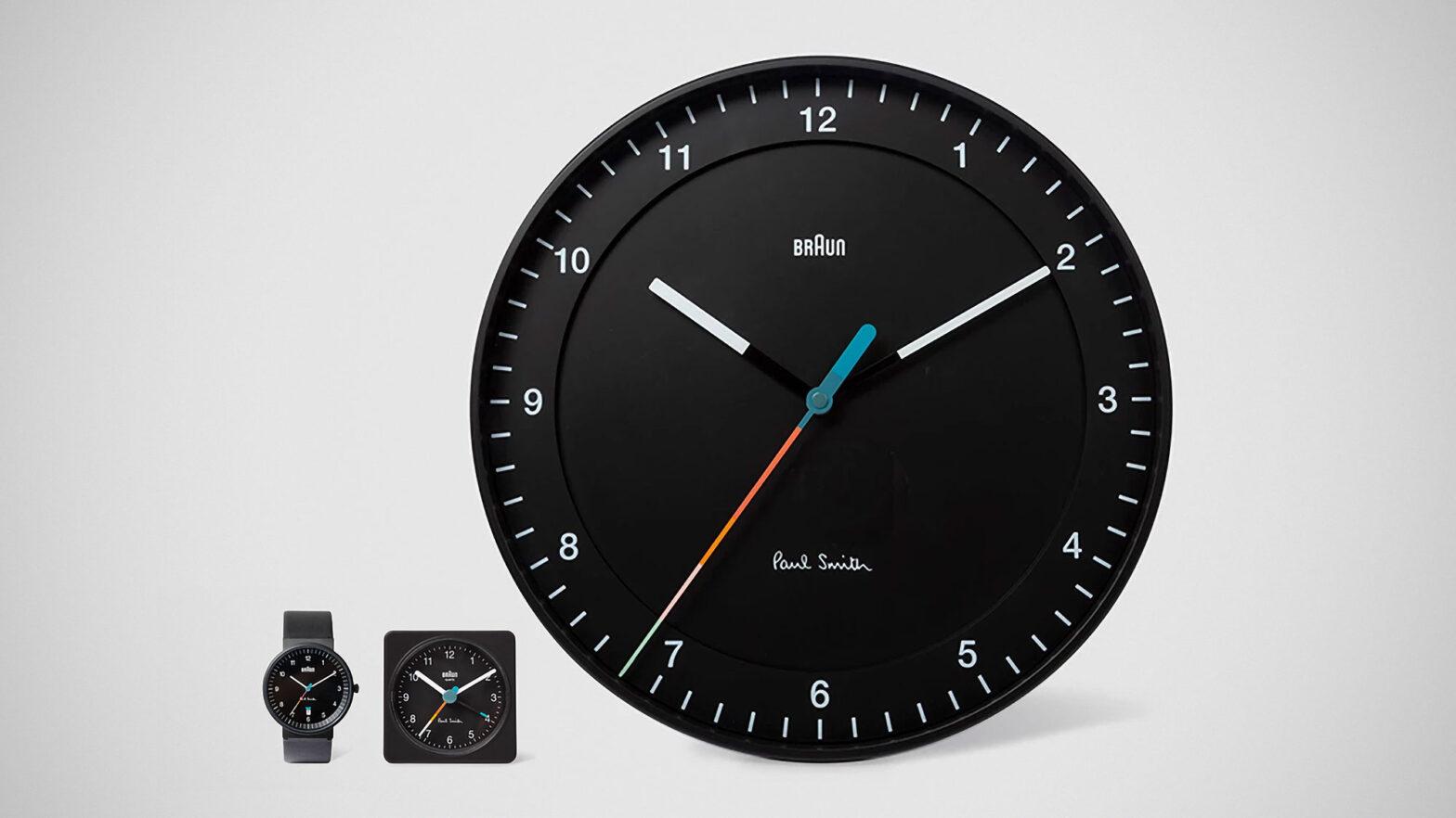Paul Smith + Braun Wrist Watch and Clocks