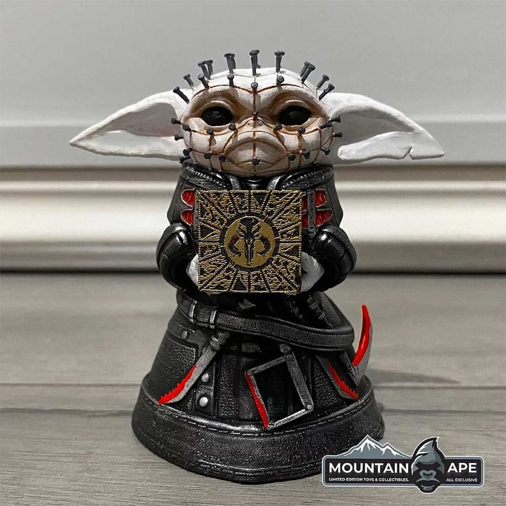 Pinhead Baby Yoda Mini Statue