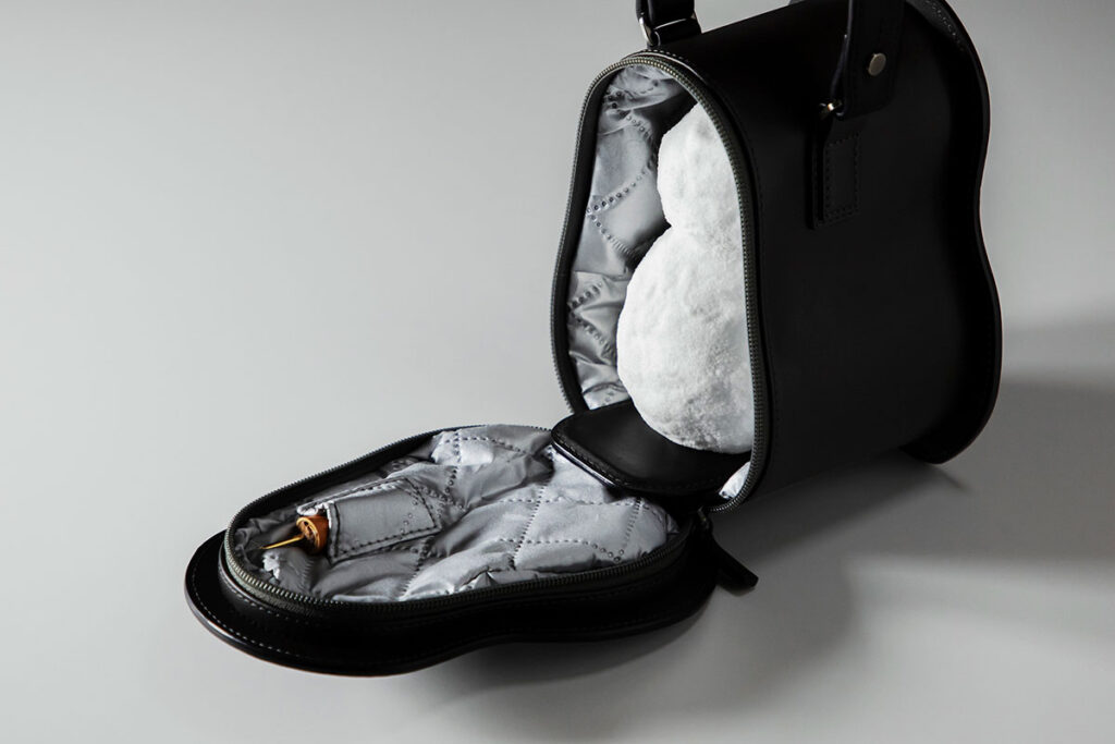 Snowman Leather Bag by Tsuchiya Kaban