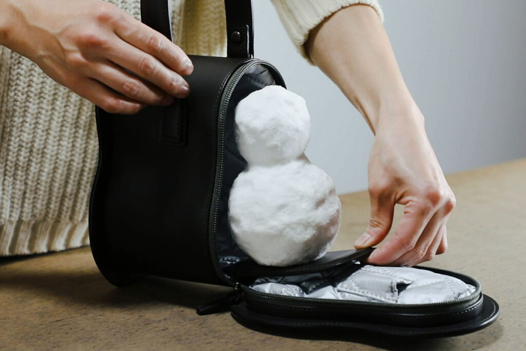 Snowman Leather Bag by Tsuchiya Kaban