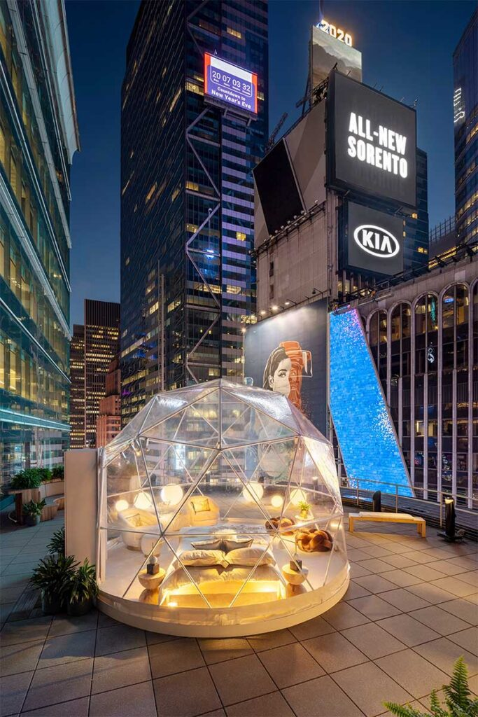 Times Square Ball with Airbnb and Nasdaq