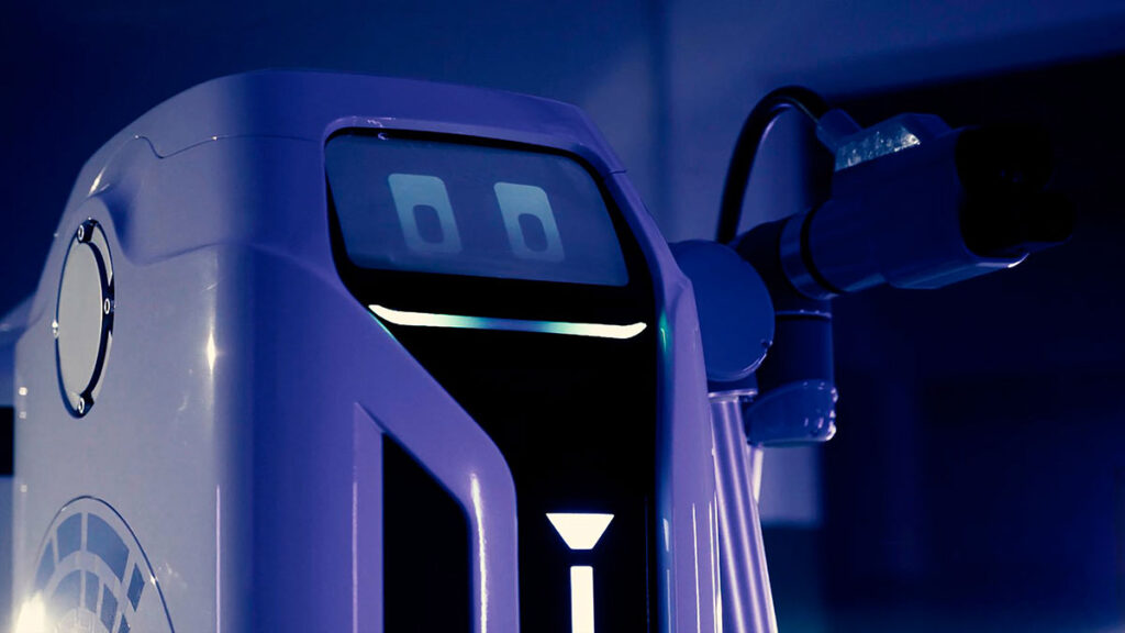 Volkswagen EV Mobile Charging Robot Prototype
