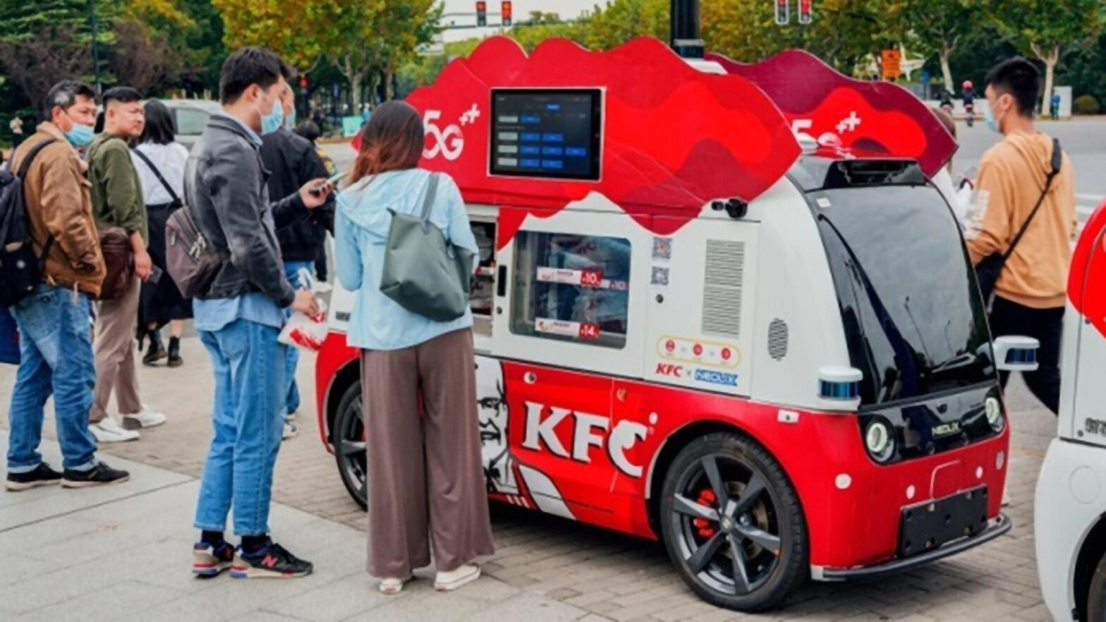 Pizza Hut and KFC Self-driving Cars