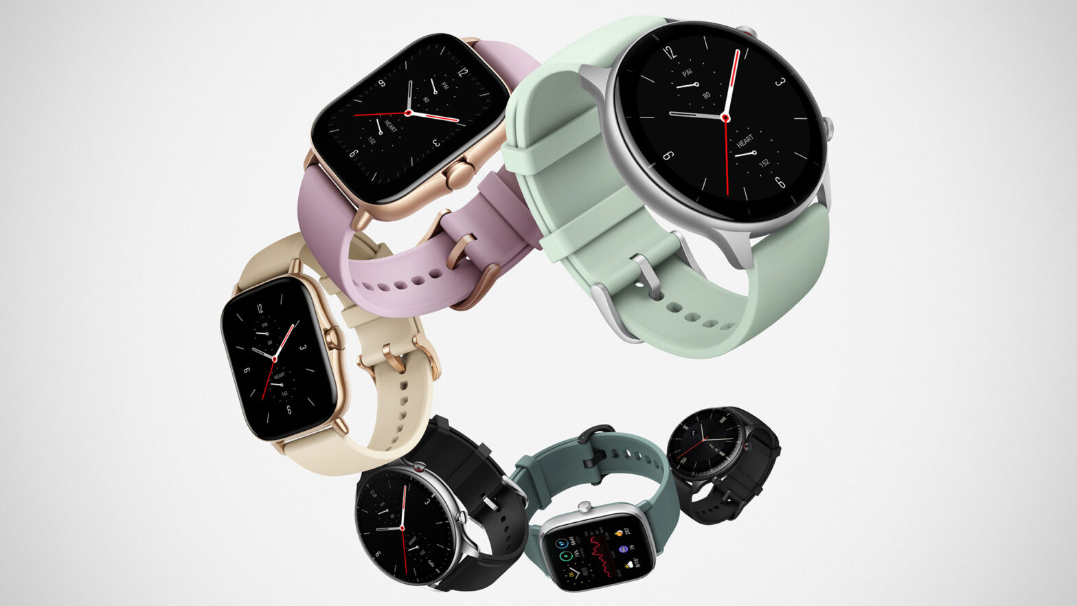 Amazfit GTR 2e and GTS 2e Smartwatches
