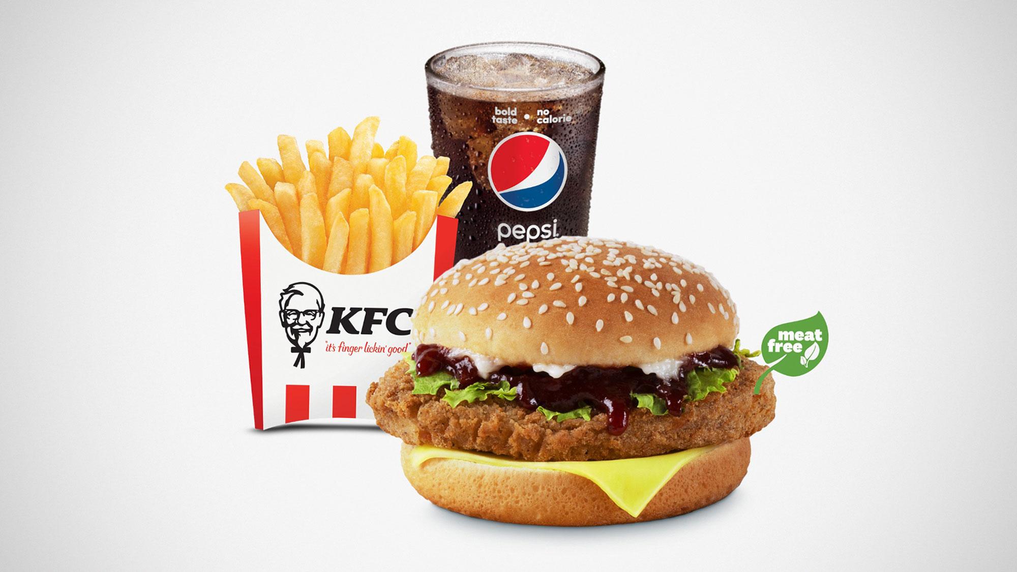 KFC Launches Zero Chicken Burger in Singapore