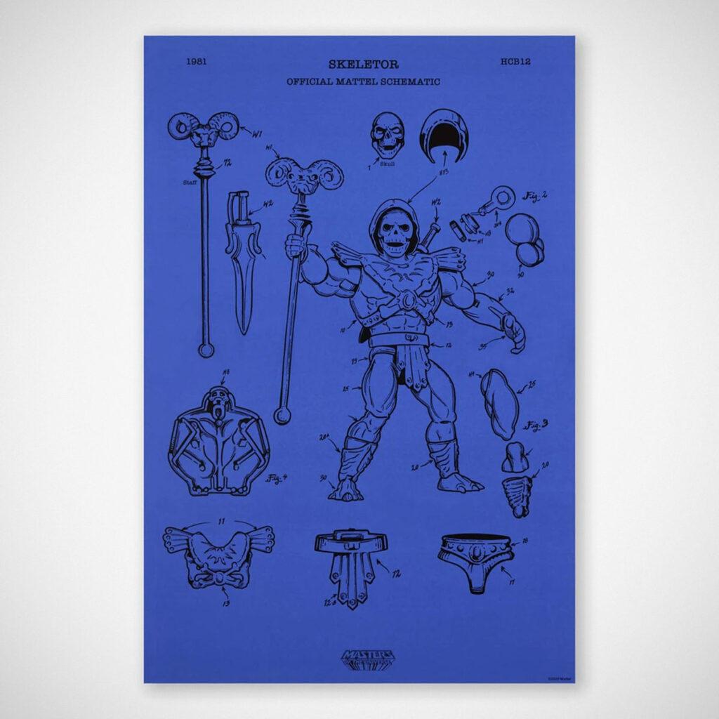 Mattel Art of Engineering Skeletor Print