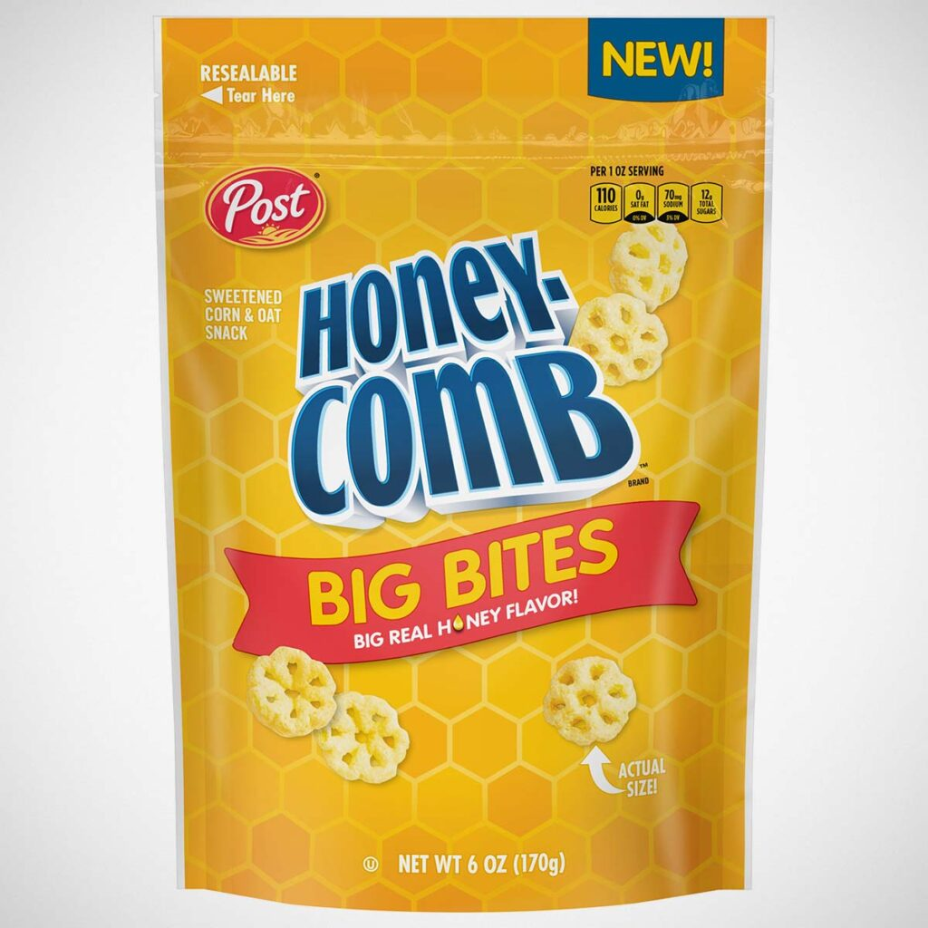 Post Honeycomb Big Bites Cereal Snack