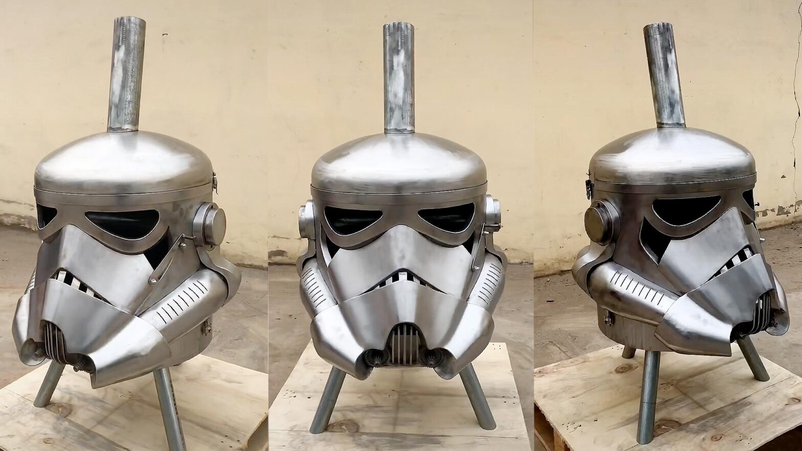 Stormtrooper BBQ/Fire Pit by Scrap Art Artist