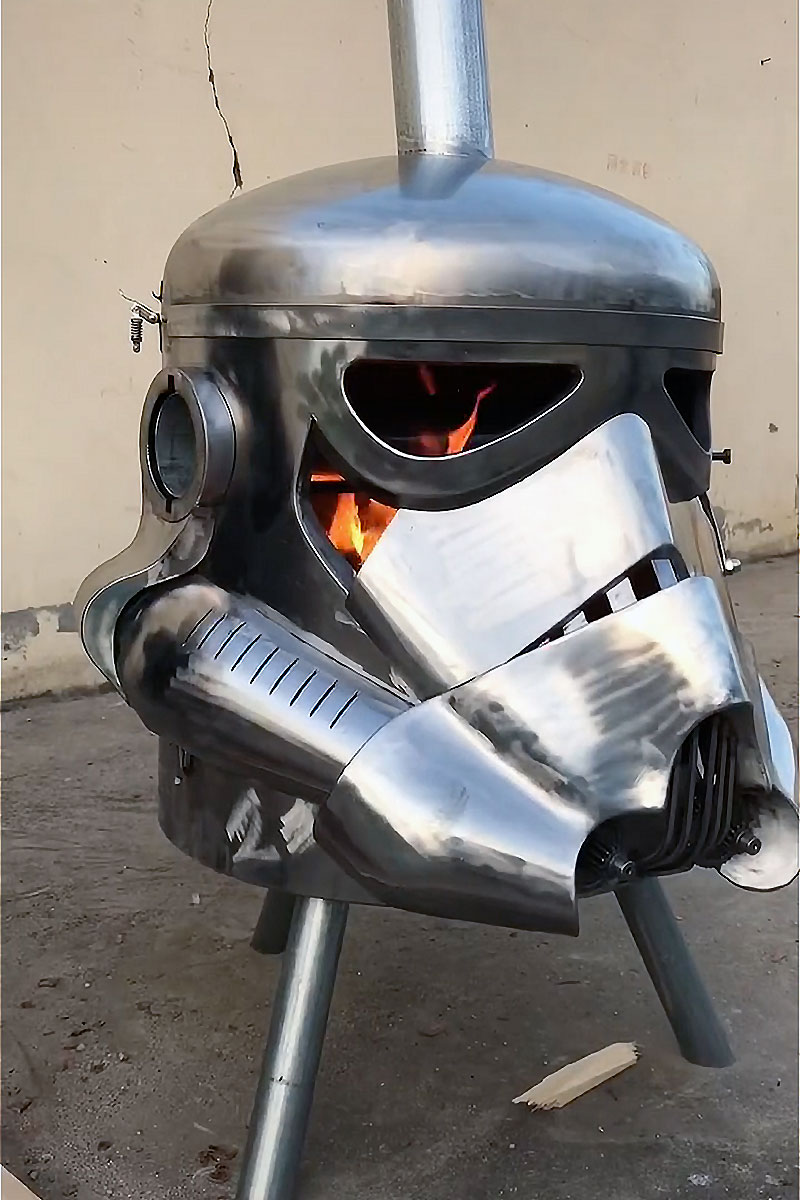 Stormtrooper BBQ/Fire Pit by Scrap Art Artist