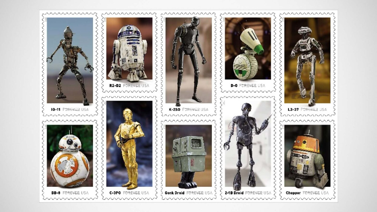 USPS Star Wars Droids Stamp Collection