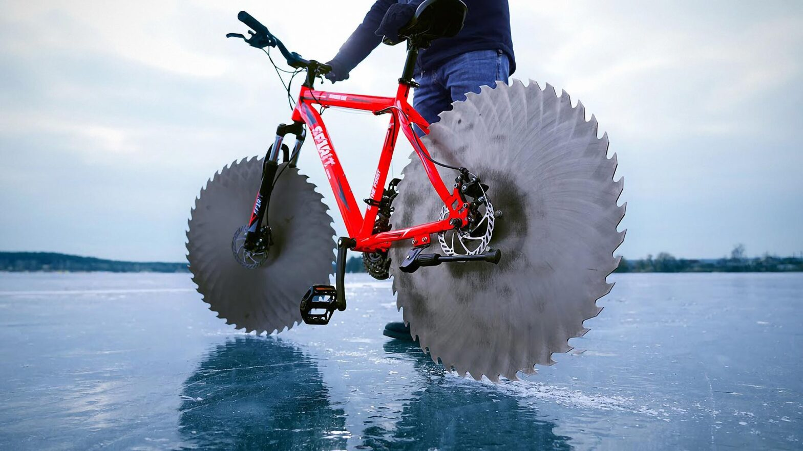 Bicycle with Saw Blade Wheels by The Q