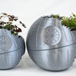 Death Star Inspired 3D Printed Planter: Totally Not A Moon Size Planter!