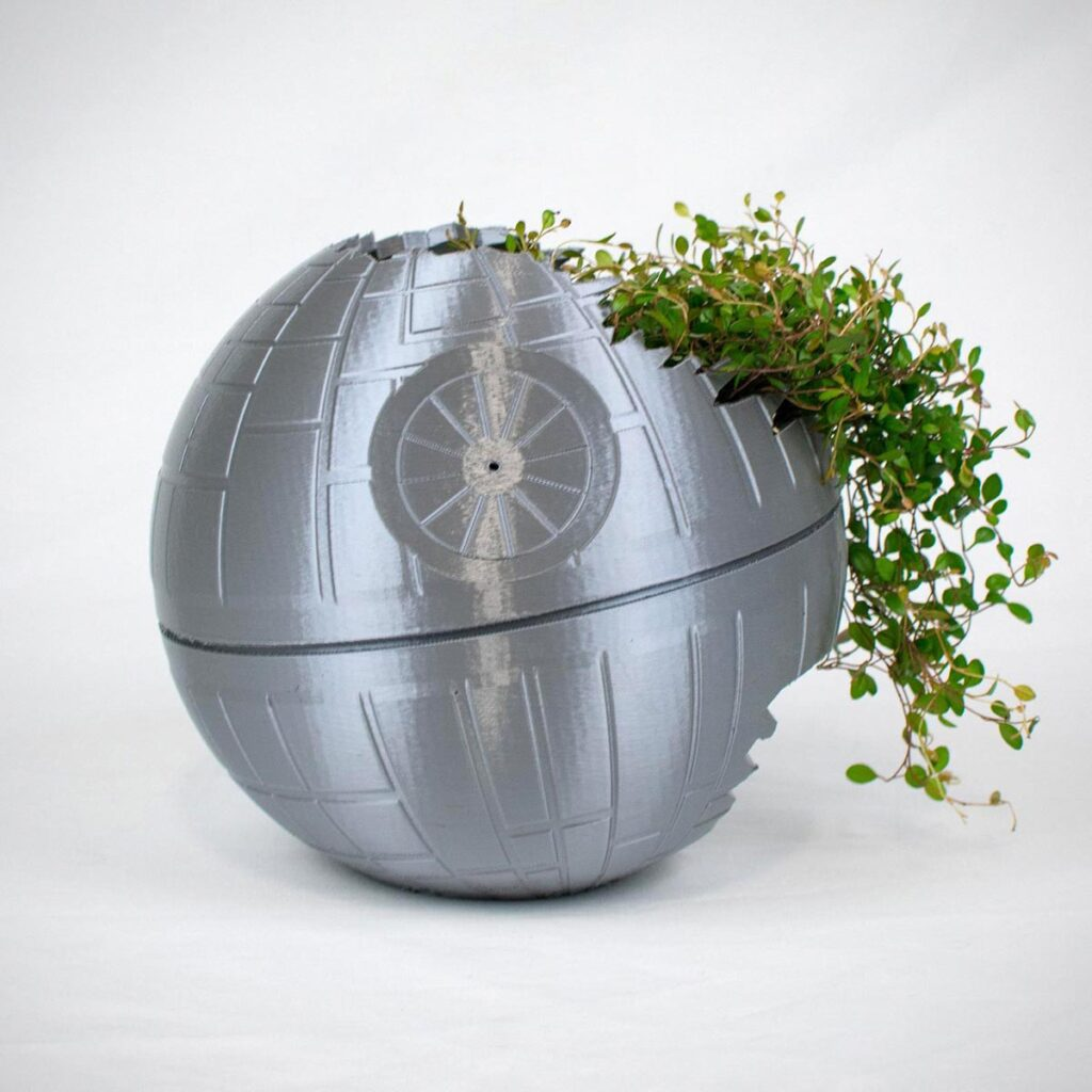 Death Star Inspired 3D Printed Planter