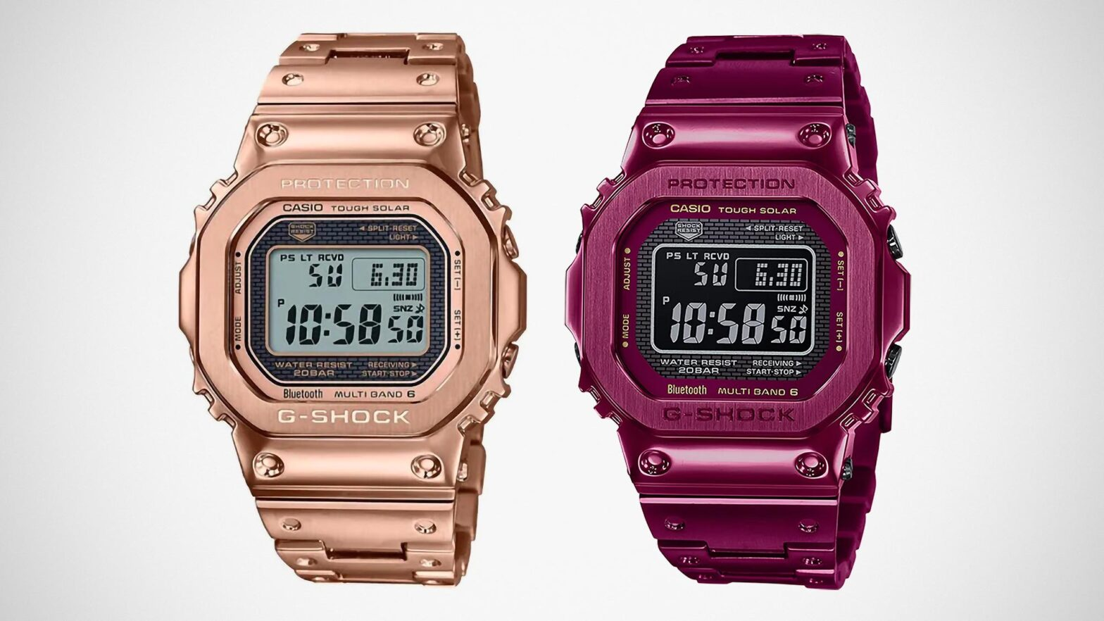 G-Shock Full Metal 5000 Red and Rose Gold