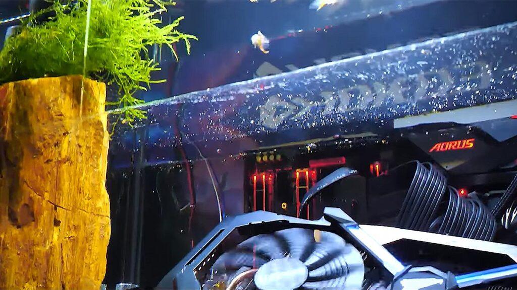 Gigabyte Custom Fish Tank Personal Computer
