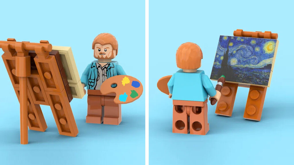 LEGO Ideas Vincent Van Gogh The Starry Night