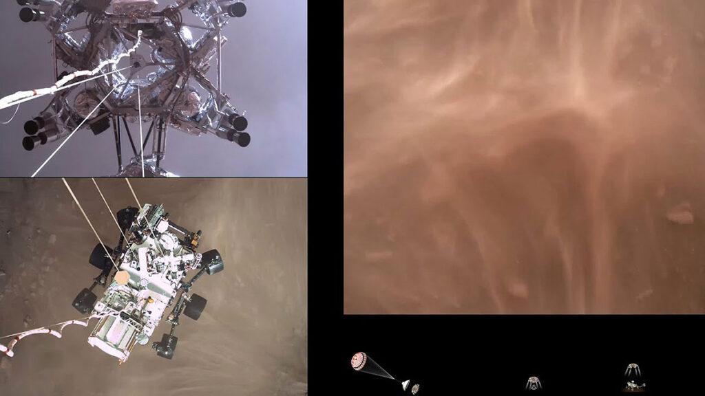 NASA Perseverance Rover Lands on Mars Video