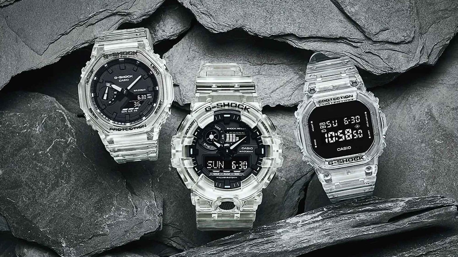 New Casio G-Shock Semi-transparent Watches