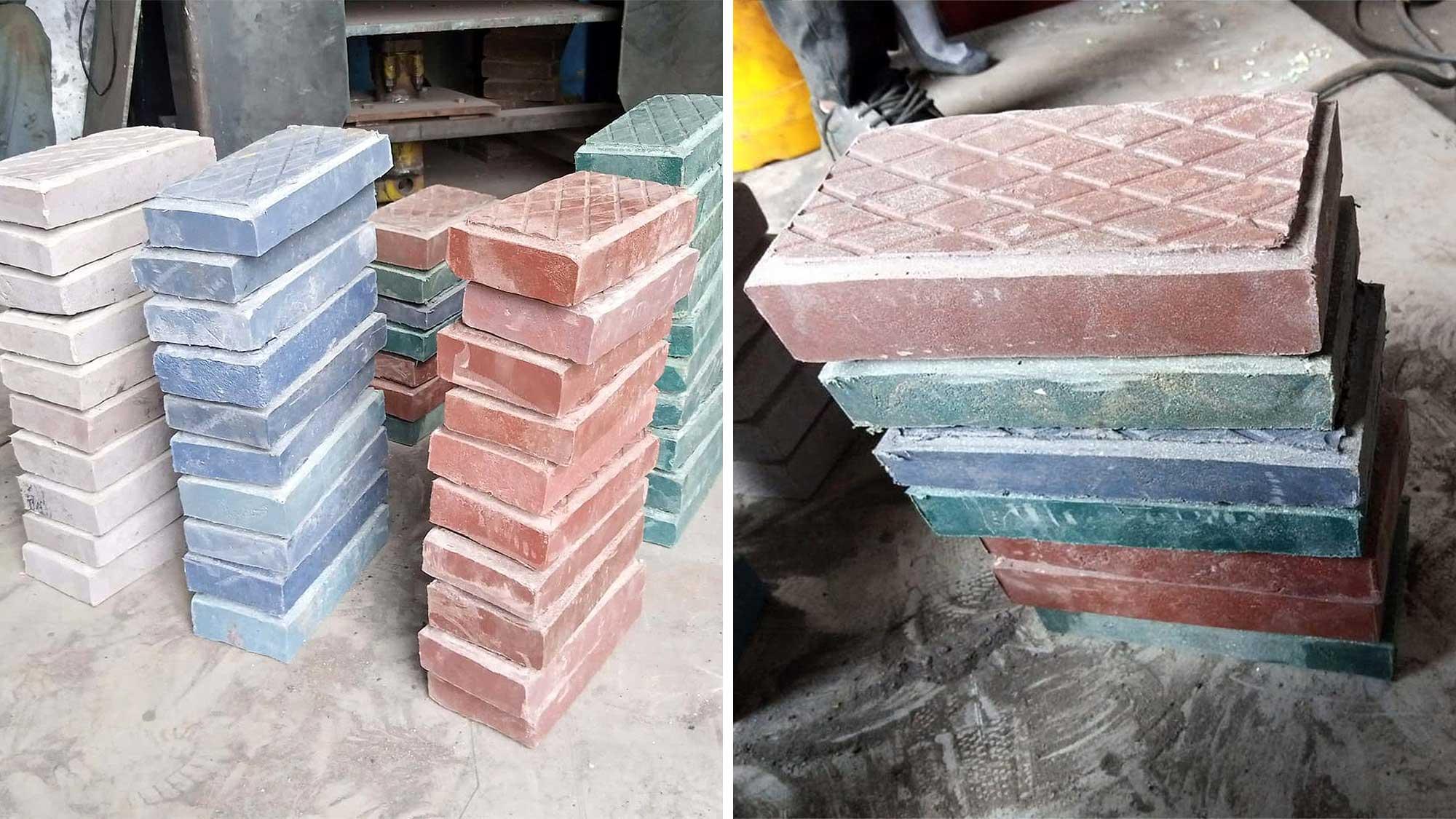 Plastic Waste Turned Into Building Bricks