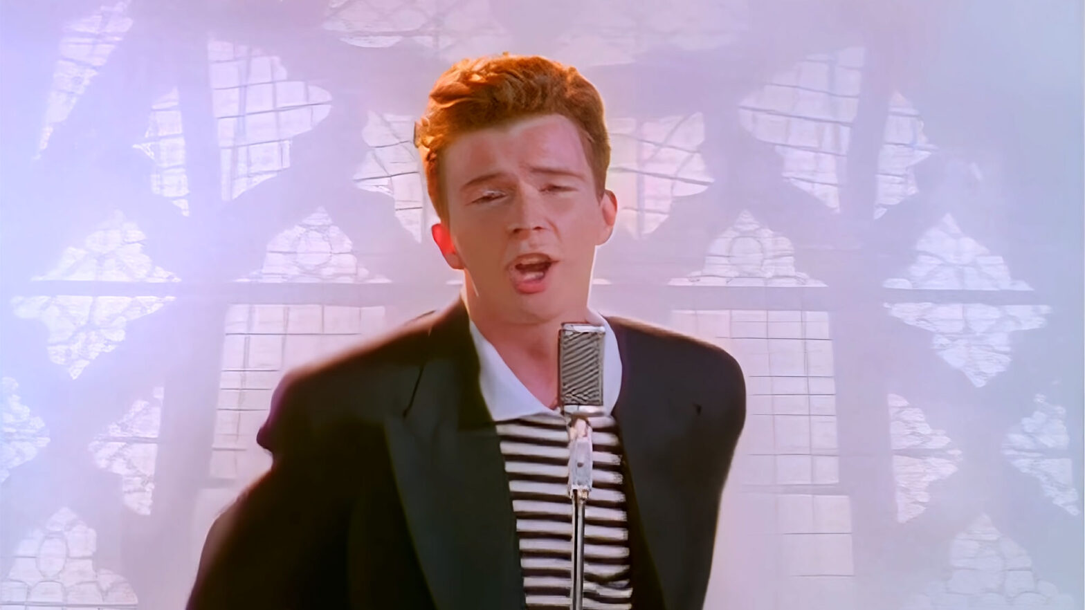 Rick Astley Music Video Remastered in 4K