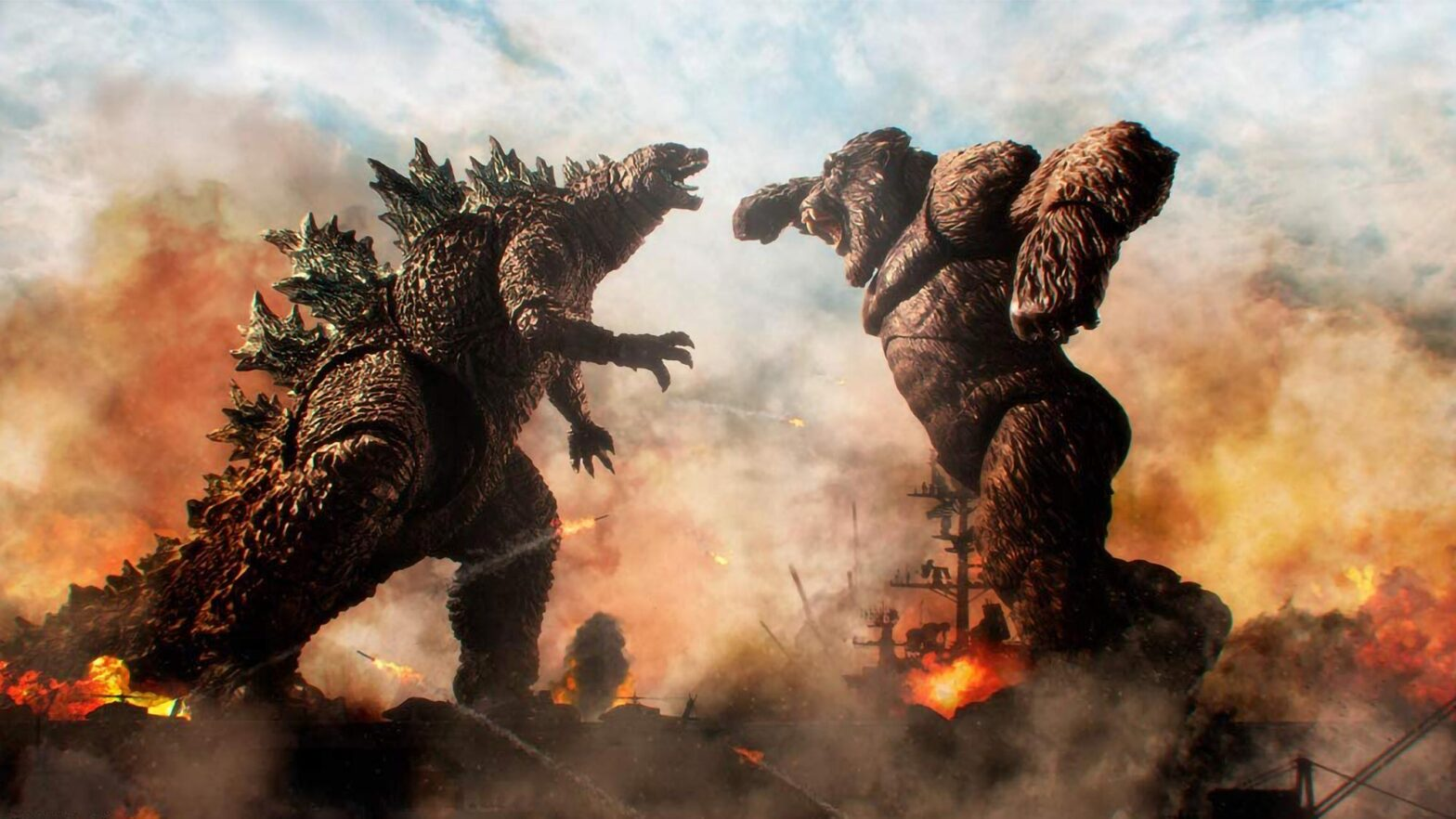 S.H.MonsterArts Godzilla vs. Kong Collectible Figures